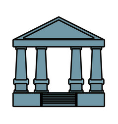 Justice court building icon vector