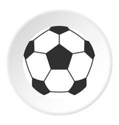 Leather soccer ball icon circle vector