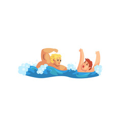 male lifeguard saving a drowning man professional vector image