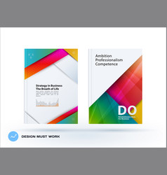material design of business brochure set abstract vector image