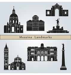 Messina landmarks and monuments vector
