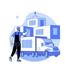 modular home abstract concept vector image