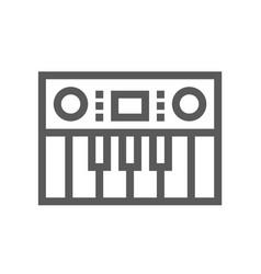music line icon editable stroke 48x48 vector image