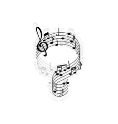 Music sheet with treble clefs and notes isolated vector