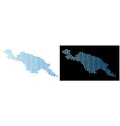 New guinea island map hex-tile mosaic vector