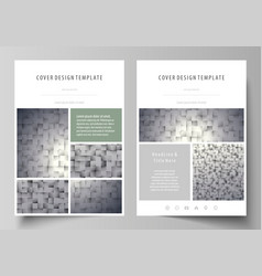 Pattern made from squares gray background in vector