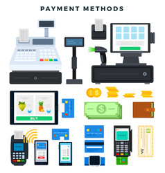 Payment methods set icons ways of vector