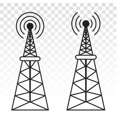 Radio waves tower mast for broadcast vector