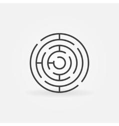 Round maze line icon vector