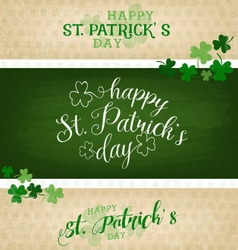 Saint Patricks Day Backround Set vector