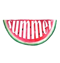 Seamless watercolor hand drawn watermelon vector