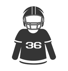 silhouette player football american isolated vector image