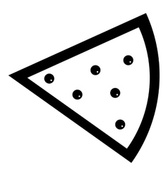 Slice of pie icon simple style vector image