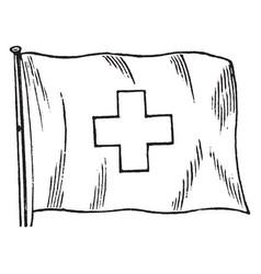 Swiss flag vintage vector