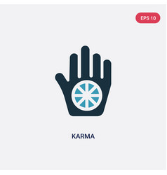 Two color karma icon from religion concept vector