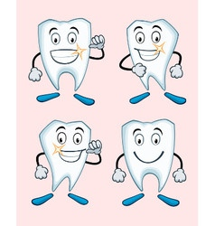 Various expressions of teeth vector