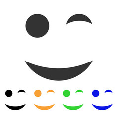 Wink smile icon vector
