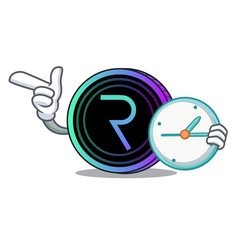 With clock request network coin character cartoon vector