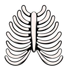 human rib cage icon icon cartoon vector image