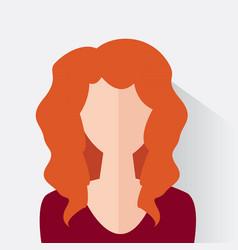 avatar woman design vector image vector image