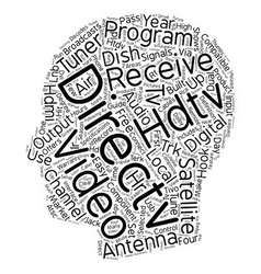 Directv hdtv receiver text background wordcloud vector
