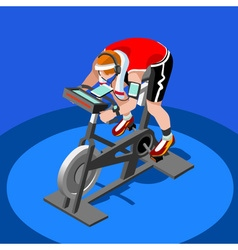 Exercise Bike Spinning Fitness Class 3D Flat Image vector image vector image