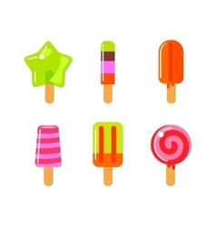 Fruit ice cream bar in flat style vector image vector image