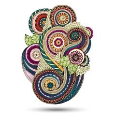 Henna Paisley Mehndi Floral Design Element vector image