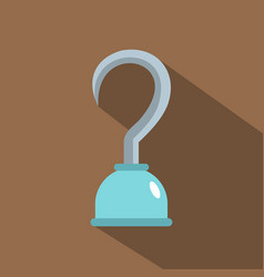 Hook icon flat style vector