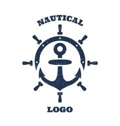 Lighthouse and anchor logo vector