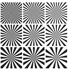 set light ray pattern sun burst retro pattern vector image vector image