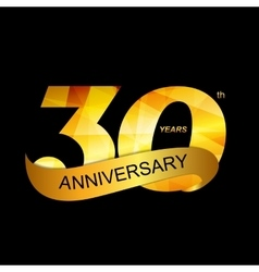Template Logo 30th Anniversary vector image vector image
