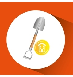 construction remodel shovel icon graphic vector image
