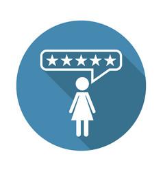 customer reviews rating user feedback concept vector image vector image