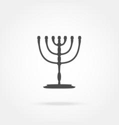 Menorah Religion icon vector image