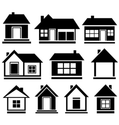 set isolated house vector image vector image