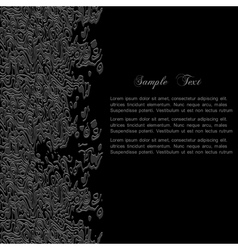 Stylish black abstract background for design vector image vector image
