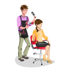 woman in a beauty salon isolated vector image vector image