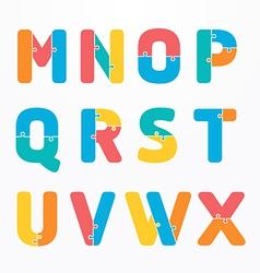 alphabet jigsaw concept concept banner vector image
