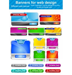 Banners for Web Design vector image vector image