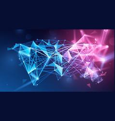 global network polygonal background vector image vector image
