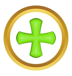Green cross icon vector image vector image