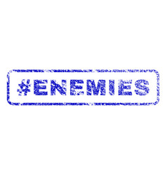 hashtag enemies rubber stamp vector image vector image