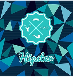 Trendy retro Hipsters badge icons seamless pattern vector image vector image