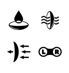 vision simple related icons vector image vector image