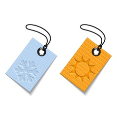 Winter and summer tags vector