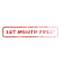 1st month free exclamation rubber stamp vector