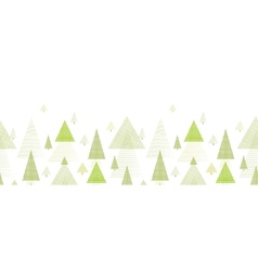 Abstract pine tree forest horizontal seamless vector image