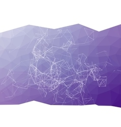 Abstract purple triangulated geometric background vector image
