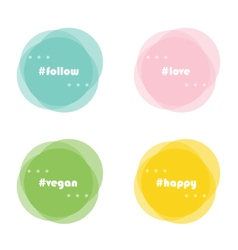 Abstract round design elements with hashtag vector image vector image